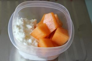 melon and cottage cheese